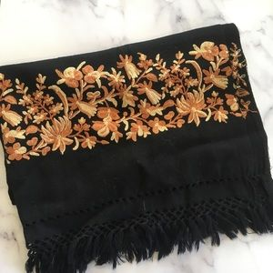 Vintage Embroidered Scarf